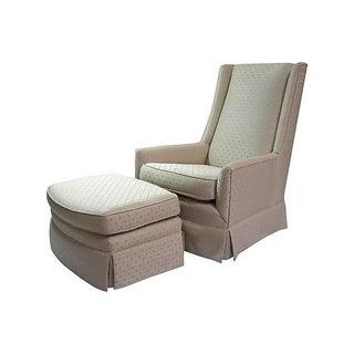 High-Back Chair and Ottoman