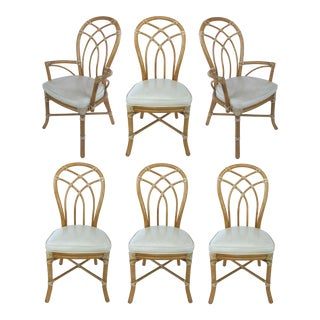 McGuire Rattan Dining Chairs- Set of 6