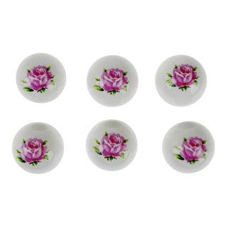 Vintage Porcelain Ceramic Floral Drawer Pull Knobs - Set of 110