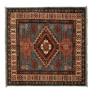 Square Wool Kazak Rug - 3' X 3'