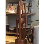 Image of Mid Century Modern Walnut & Brass Table Lamp