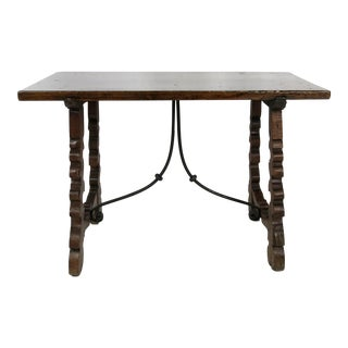Walnut and Iron Spanish Baroque Writing Table
