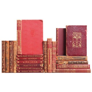 Red Distressed Mini Classic Books - Set of 20