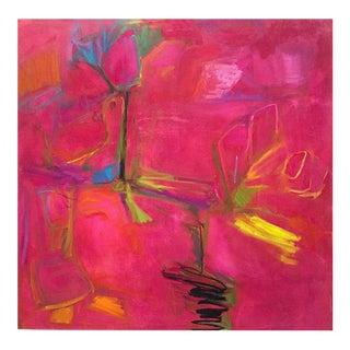 """Love Birds"" Large Abstract Minimalist Oil Painting"