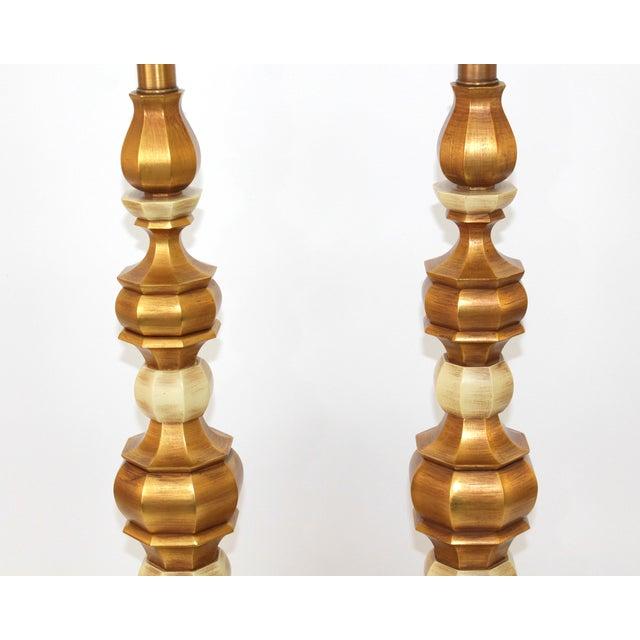 Hollywood Regency Italian Giltwood Lamps - Pair - Image 3 of 8
