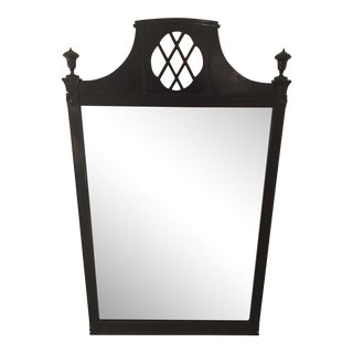 Hollywood Regency Black Painted Wall Mirror