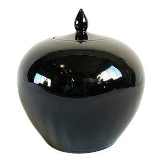 Black Ceramic Lidded Jar