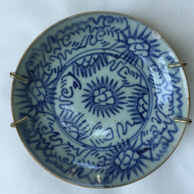 Antique Blue & White Plates, Flower Pattern - 4 - Image 5 of 11