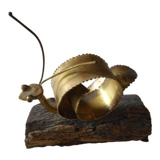 Metal Snail Art Sculpture