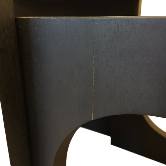 Modern Black Wood Nesting Tables - Set of 3 - Image 6 of 6