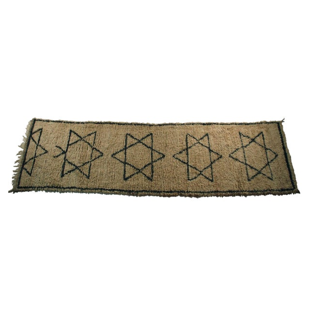 "Moroccan Vintage Beni Ouarain Rug - 3'8""x12'5"" - Image 1 of 4"