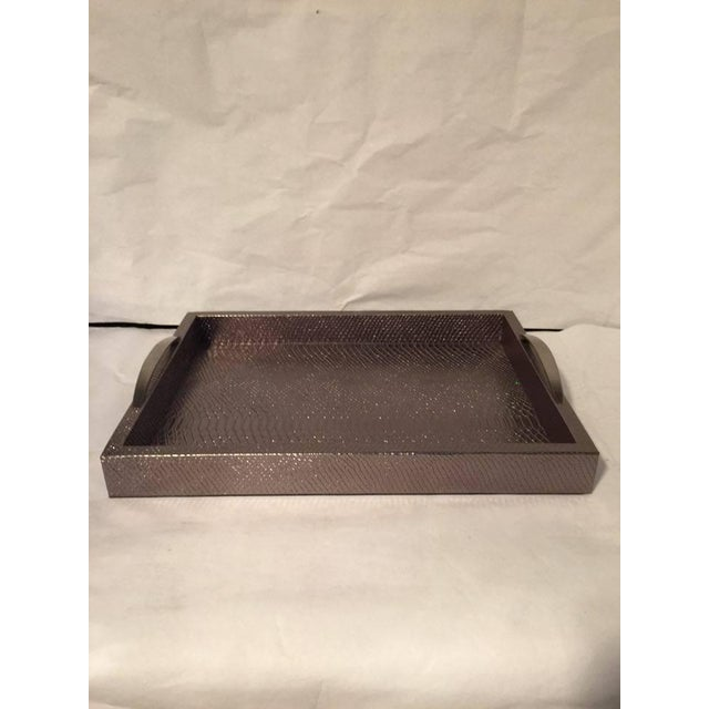 Bronze Snakeskin Handled Tray - Image 4 of 7