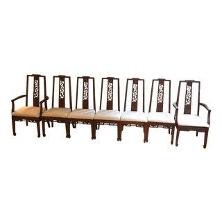Ricardo Lynn Mid Century Asian Dining Chairs - S/7