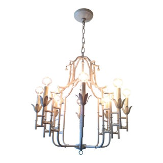 Vintage Faux Bamboo Chandelier