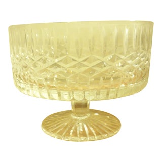 Large Crystal Tyrone Footed Serving Bowl