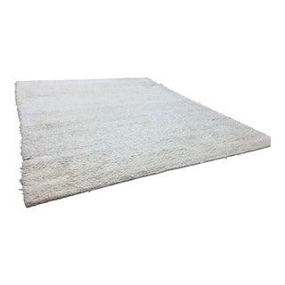 Cream Wool Shag Rug - 11' x 14'