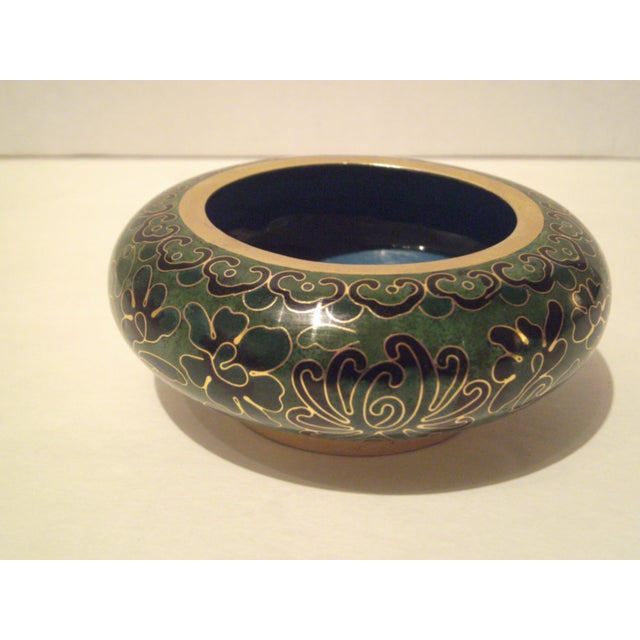 Emerald Green Cloisonne Footed Bowl - Image 2 of 8