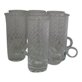 Vintage Irish Fine Glass Coffee Mugs S/7