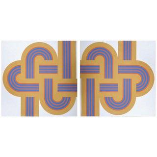 "1973 Serigraph ""Weave"" Set by Reis & Manwaring"