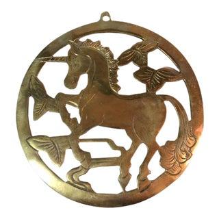 Brass Unicorn Trivet