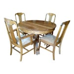 Image of Antique Claw Foot Dining Table & 4 Chairs