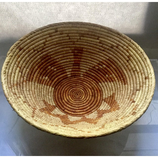 Vintage Native American Apache Pima Coil Basket - Image 4 of 11