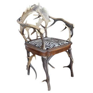 Antler Chair from a Bavarian Lodge