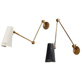 "Unique Pair of Model ""2024"" Wall Lights by Stilnovo"