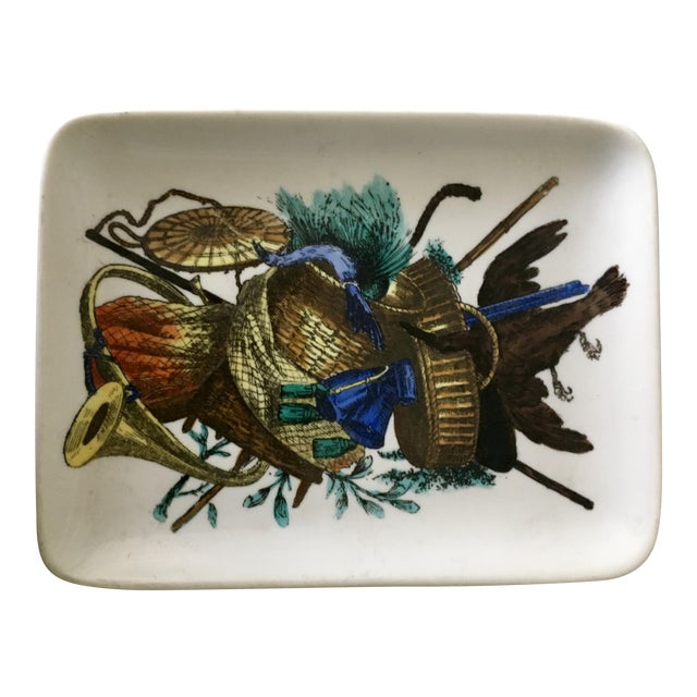 Vintage Fornasetti Decorative Trinket Dish, Tray, Plate, Accessories - Image 1 of 6