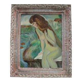 Figural Abstract Expressionist Female Painting