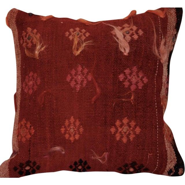 Vintage Handmade Wool Decorative Boho Pillow - Image 1 of 6