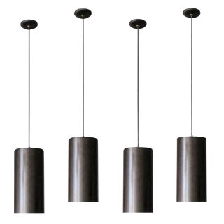 Black & Olive Brushed Aluminum XL Prescolite Pendants
