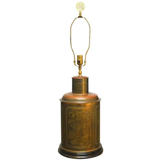 Brass Shrewsbury Tea Caddy Lamp - Image 1 of 6