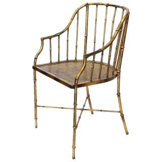 1930s Italian Gold Leaf Accent Chair