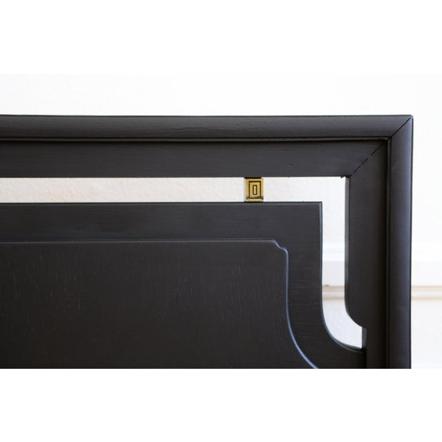 Mid-Century Modern Black King Size Bed - Image 4 of 5