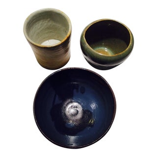 Mid-Century Ceramic Vessels/Bowls - Set of 3