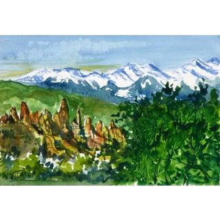 G. Vidal Summer Peaks Watercolor