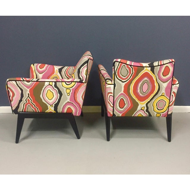 Italian Mid Century Lounge Chairs in the Style of Ico Parisi - a Pair - Image 7 of 9
