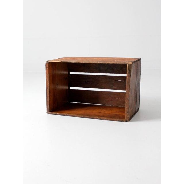 Vintage Apple Crate Wood Box - Image 3 of 7