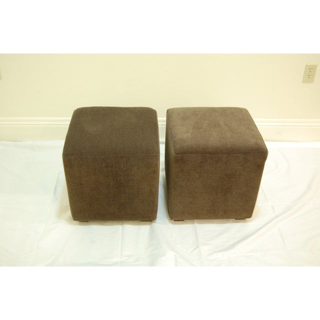Mitchell Gold + Bob William Cube Ottomans - Image 4 of 5
