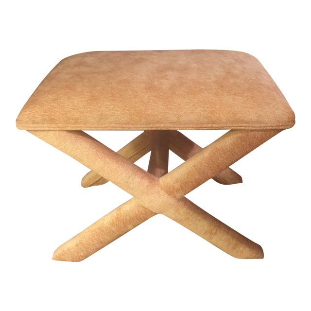 X Form Ottoman Bench Chairish