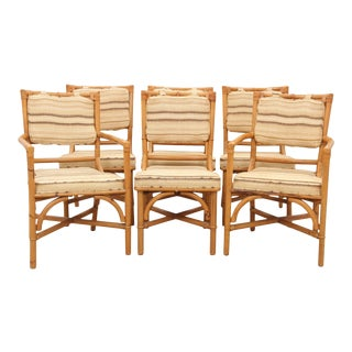 Bamboo Dining Chairs - Set of 6