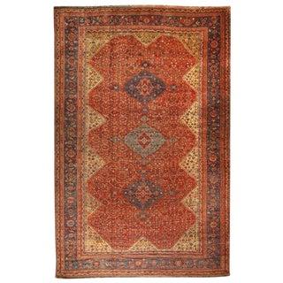 Extremely Rare Oversize Antique 19th Century Persian Qashqai Carpet