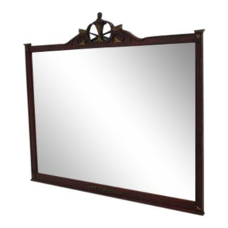 Antique RWAY Mahogany Cross Arrows Dresser Wall Mirror