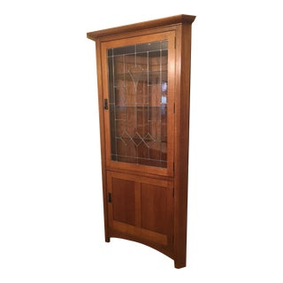 Stickley Mission Collection Oak Corner Cabinet