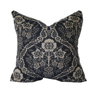 """Blue Farmhouse Style Pillow in """"Ink"""""""