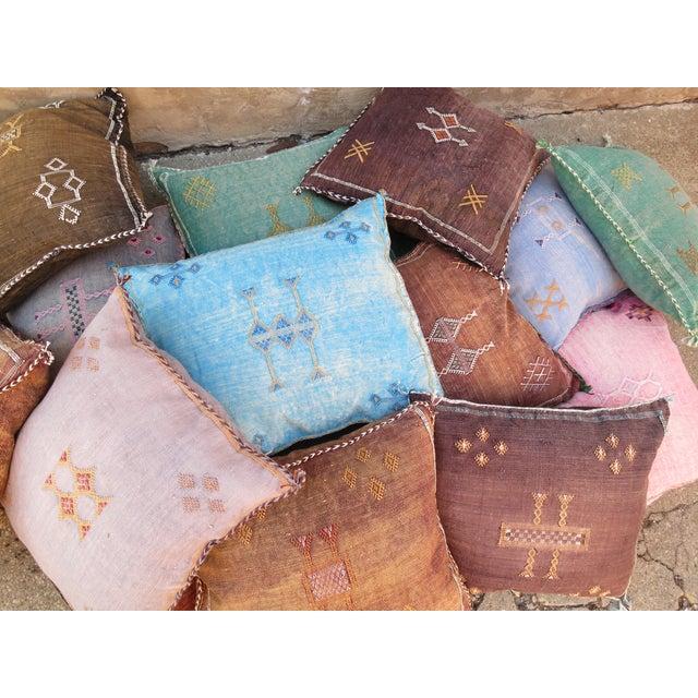 Moroccan Sabra Cactus Silk Pillow - Image 4 of 4