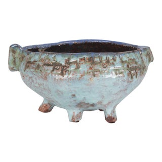 Pale Blue Glazed Ceramic Bowl by Juliette Derel