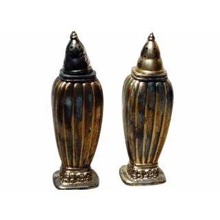 Antique Salt And Pepper Shakers - Pair