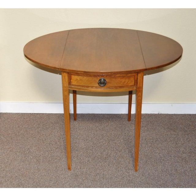 American Drop Leaf Side Table With Drawer C.1915 - Image 7 of 9